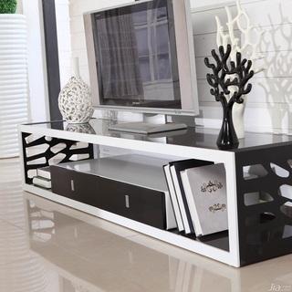 现代简约客厅电视柜 钢化玻璃烤漆电视柜