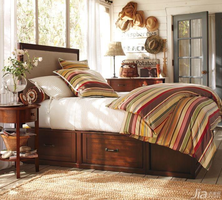全實木美式家具臥室床