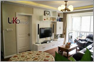 现代简约风格小户型电视背景墙旧房改造设计图