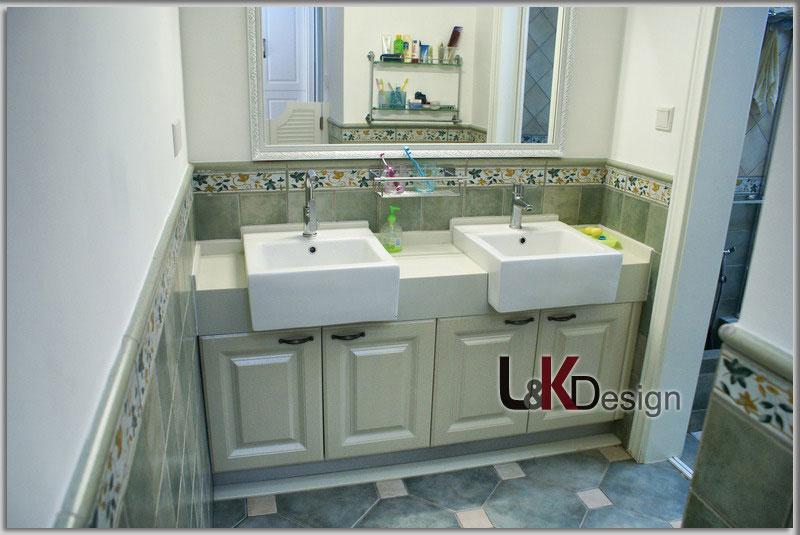 现代简约风格小户型洗手台旧房改造设计图纸