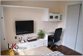 现代简约风格小户型电视背景墙旧房改造家装图