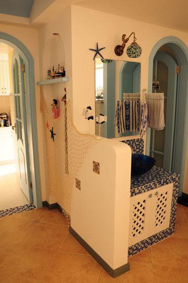地中海风格一室一厅装修效果图