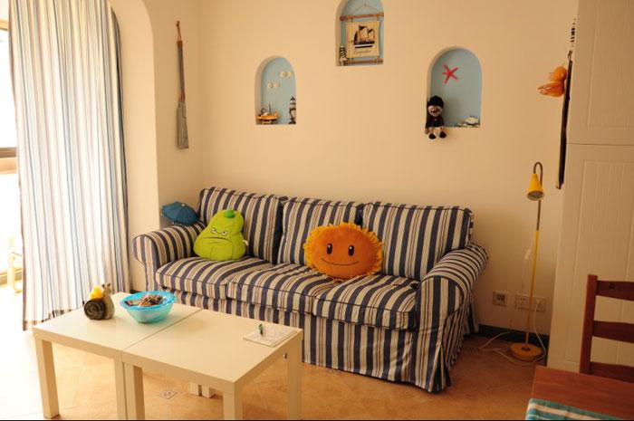 地中海风格一室一厅装潢
