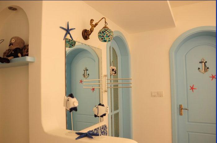 地中海风格一室一厅效果图