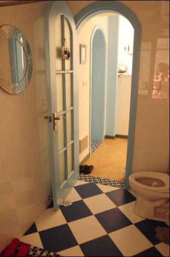 地中海风格一室一厅效果图纸