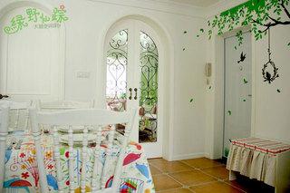 田园风格70平米婚房家装图片