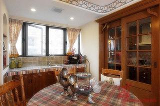 美式风格三室两厅120平米设计图