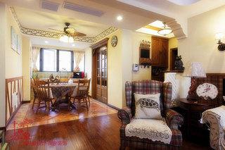 美式风格三室两厅120平米装修效果图
