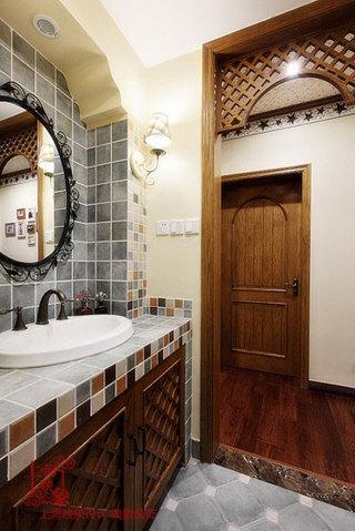 美式风格三室两厅120平米卫生间设计