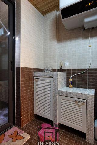 现代简约风格两室两厅地下室浴室柜图片