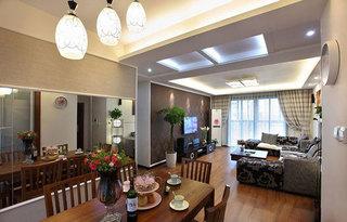 简约风格小户型80平米餐厅婚房平面图