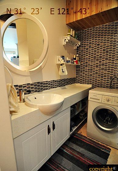 现代简约风格小户型小清新60平米卫生间设计图纸