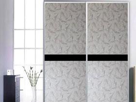 韓國彩繪皮革訂制移門衣柜