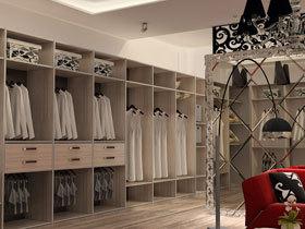 北美橡木订制移门衣柜设计