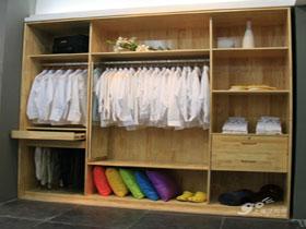 松木整體衣柜 定制開門 移門 隔斷