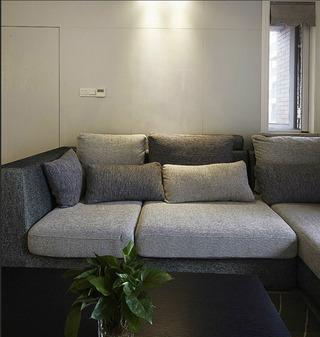 现代简约风格公寓时尚客厅沙发布艺沙发效果图