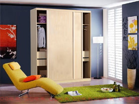 現代中式移門衣柜