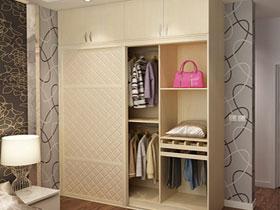 定制歐式風格軟包推拉移門衣柜