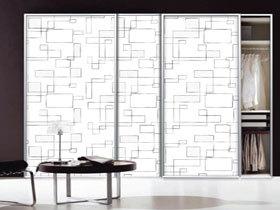 欧式超白玻3D烤漆衣柜