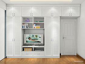衣柜+电视柜组合韩式田园定制卧房家具衣柜