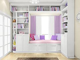 女孩房家具组合儿童推拉门衣柜