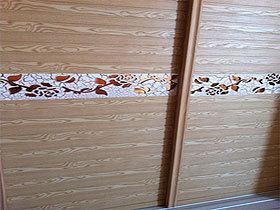木塑水曲柳木纹衣柜移门