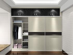 黑白簡約移門衣柜 設計方案