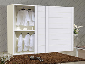天使白30板同步包覆定制衣柜移门