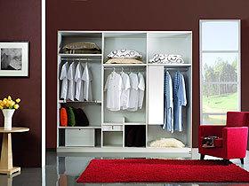 刨花板白橡木整体衣柜设计图