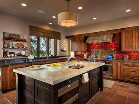 开放式厨房岛台橱柜
