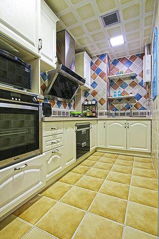 地中海风格一居室小清新蓝色厨房装修效果图