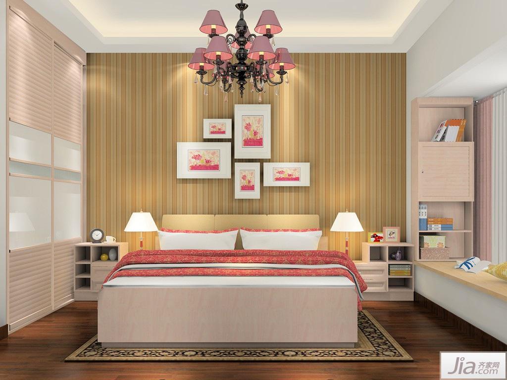 欧式田园风格卧室家具装修效果图图片