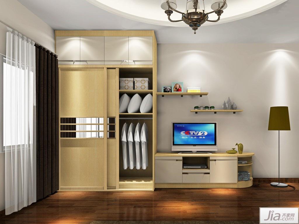 简欧风格卧室家具装修效果图衣柜图片