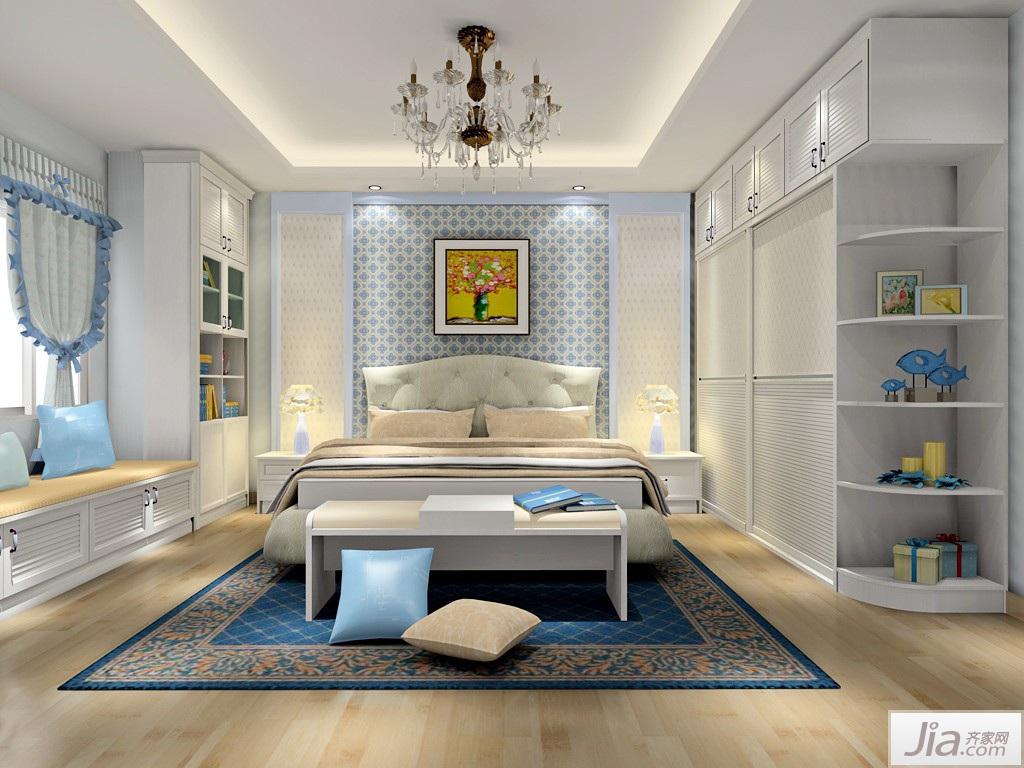 韩式田园风格卧室家具装修效果图图片
