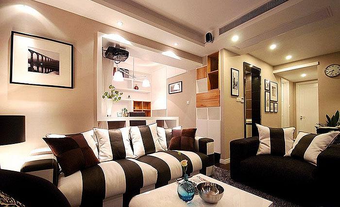 简约风格时尚130平米客厅装修图片