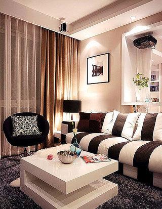 简约风格时尚130平米客厅装潢