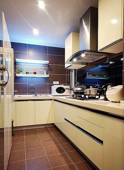 简约风格时尚130平米厨房装修图片