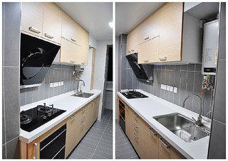 混搭风格两室一厅小清新70平米厨房二手房家装图片