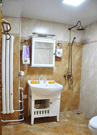 混搭风格两室一厅小清新70平米卫生间二手房设计图