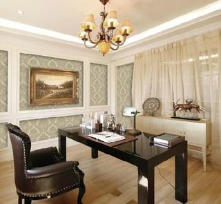 欧风欧式大马士革 客厅沙发背景壁纸
