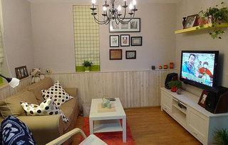 宜家风格小户型温馨40平米客厅效果图