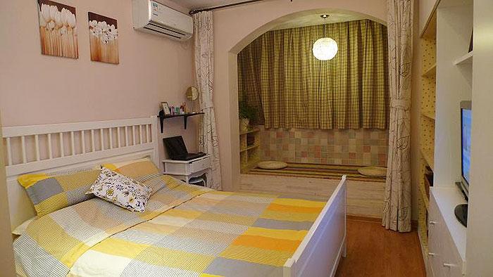 宜家风格小户型温馨40平米卧室装修效果图