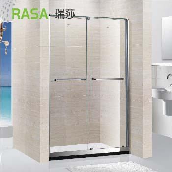 一字型不锈钢边框淋浴房