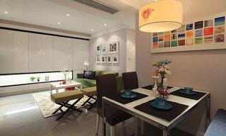 宜家风格三室一厅奢华80平米餐厅餐厅背景墙装修效果图