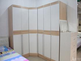 純色系轉角式6門衣柜