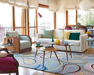 现代简约风格乡村别墅艺术豪华型客厅沙发布艺沙发图片