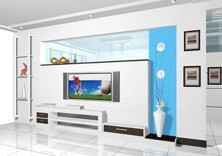 2014年最流行 50款电视背景墙效果图36/44