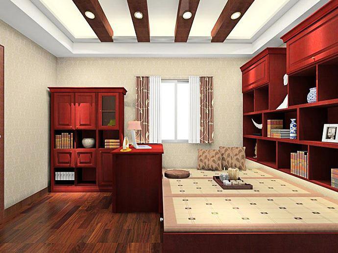 2014最新设计 客厅榻榻米装修效果图