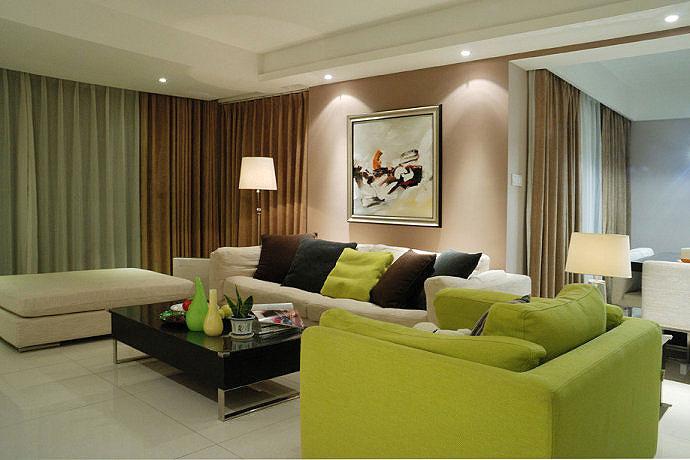簡約風格兩室一廳小清新90平米裝修效果圖圖片