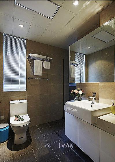 现代简约风格小户型小清新90平米卫生间装修效果图